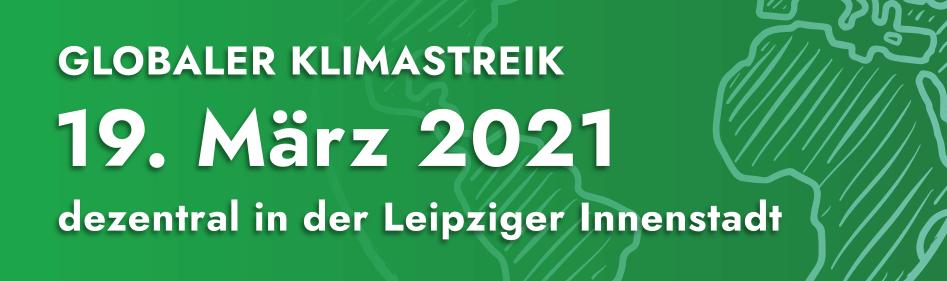 globaler Klimastreik am 19.03.2021 in Leipzig